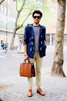 urbanemenswear:    This is such an easy spring look, especially with that light weight toggle windbreaker.