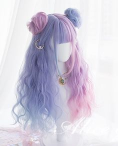 Pelo Lolita, Lolita Hair, Kawaii Hairstyles, Pretty Hairstyles, Wig Hairstyles, Anime Wigs, Anime Hair, Cosplay Hair, Cosplay Wigs