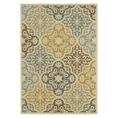 Kelsey Medallion Indoor/Outdoor Rug Target Gonna get this for my morrocan themed patio!!