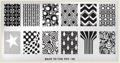 MoYou London Back To The 70's - 03 stamping nail art plate.