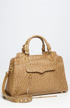 Taupe Ostrich...so amazing. Look at the texture and the structure. It's perfection in a purse, you know, except for the price.