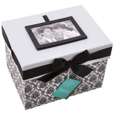 Gartner Studios Black & White Wedding Keepsake Card Box
