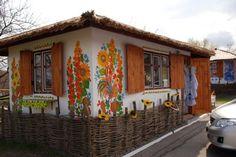 Ukrainian house decorated in Petrykivka style.