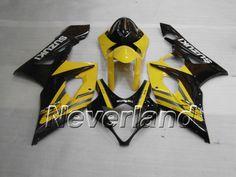 SUZUKI GSX-R 1000 2005-2006 K5 ABS Fairing - Yellow/Black #2006suzukigsxr1000fairingkit #2006gsxr1000fairingskit