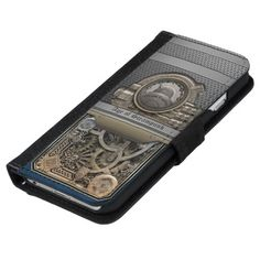 Steam Engine.Age of Steampunk. Wallet Phone Case For iPhone 6/6s★ #Steampunk #Samsung #iphone #Cases #S6 #S7 #ipad #samsunggalaxys #victorian #phonecases #accessories #gosstudio