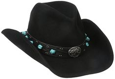 fa814c3cf9526 Scala Women's Wool Felt Tight Pinch Western With Turquoise Accented Band  Review