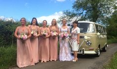 VW Deluxe Weddings at High House Farm Brewery. Chauffeur driven VW Campervan wedding hire throughout the NorthEast, Northumberland, Tyne&Wear, and Durham.