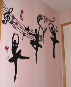 Doing Belles room in a ballerina theme. Would love to find decals like this