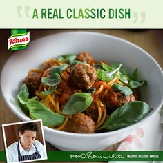 Marco's Spaghetti with Meatballs is a meal sure to please the whole family! http://www.knorr.co.uk/recipes/detail/8367/1/spaghetti-with-meatballs