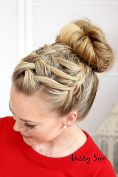 braid 14 triple french braid double waterfall-missysueblog....lots of other great hairstyles on this blog, too