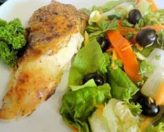 Portuguese Roast chicken Peri Peri with traditional Portuguese Salad