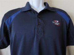 Rare US OPEN 2009 Polo Shirt Athletic Tennis New York Blue Vansport Size Medium