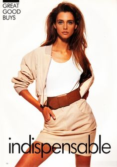 UK Vogue July 1988 Indispensable Summer Ph: Eamonn McCabe Model: Roberta Chirko