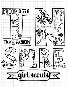 INSPIRE Girl Scout TShirt Design by bingobuttercups on Etsy, $5.00