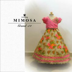 Kids floral lehenga for big fat indian wedding
