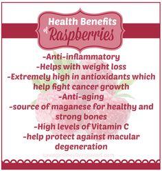 Health Benefits of Raspberries: weight loss, anti-inflammatory and more.