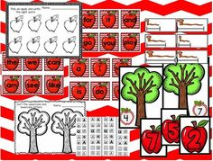 Apples Activities (free; from Classy Kinders)