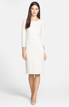 Adrianna Papell Inverted Pleat Ponte Sheath Dress available at #Nordstrom