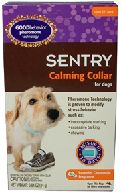 Anxiety in Cats and Dogs:  Sentry Pheromone Calming Collars mimic the pheromone that the mother dog or cat produces to calm and reassure her puppies or kittens. The calming lavender and chamomile scent provides a soothing fragrance.