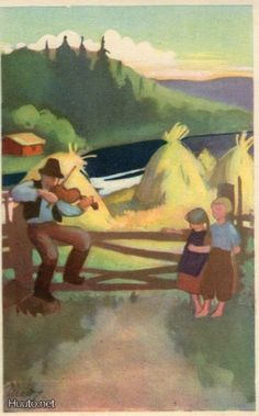 Martta Wendelin Childrens Christmas, Christmas Art, Class Pictures, Woodland Fairy, Fairytale Art, Vintage Postcards, Finland, Illustrators, Folk Art