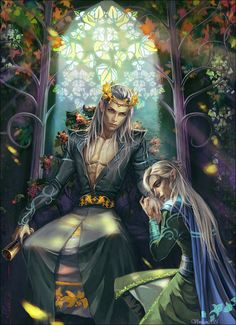 At last I finished this epic picture from Thranduil's life) It is a sequel to this picture from one series.  I do covers! If you want cover, note me, I can put you in queue. Commission for Isa...