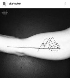"1 Likes, 1 Comments - Get Inkspired (@get.inkspired) on Instagram: ""Geometric mountain bicep tattoo by okanuckun #⃣#⃣#⃣ #tattoo #tattoos #tat #ink #inked #tattooed…"""