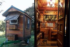 """With typical Midwestern modesty, Iowa resident Mike Tucker says he only knows """"some basics"""" about homebuilding. Nevertheless, the 57-year-old landscaper and hobbyist craftsman felt confident enough to start on this 48-square-foot micro cabin without blueprints, a design, or even a plan. """"I just winged it as I went,"""" he says. He did know he wanted …"""
