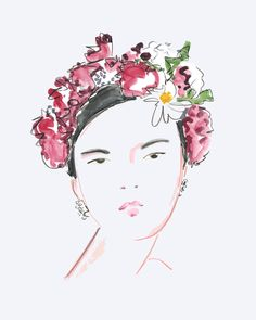 Please visit our website to purchase Fashion Portrait - Asagao by illustrator Beth Briggs.