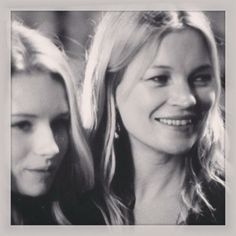 Kate Moss & her sister Lottie at the #TopshopUnique show in London #LFW #KateMoss Lottie Moss @Topshop
