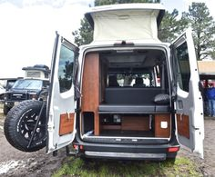 A look in the rear of the Sprinter 4x4 camper van
