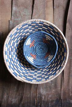 // woven baskets.