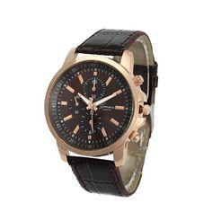 3f37aea7799bb Louise relogio masculino Luxury Brand Gold Watches Men Women 2016 Faux  Leather Three Eyes Dial Quartz Wristwatch For Women Men - Watch Shop