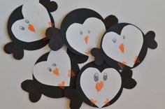 Penguin Valentines crafts-need to make these :) Preschool Crafts, Fun Crafts, Arts And Crafts, Preschool Ideas, Teaching Ideas, Hate Valentines Day, Holiday Crafts For Kids, Holiday Ideas, Holiday Decor