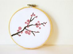 Counted Cross stitch Pattern PDF. Instant download. Cherry Blossom. Includes easy beginner instructions.. $4.50, via Etsy.