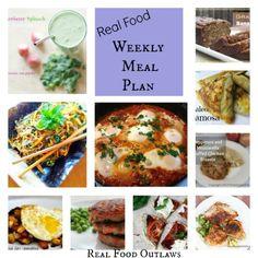 Real Food Weekly Meal Plan - 1/13 - 1/18   Real Food Outlaws