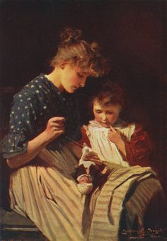 """The Broken Doll"" 1894 Carlton Alfred Smith | Carlton Alfred Smith [English painter, 1853-1946]"
