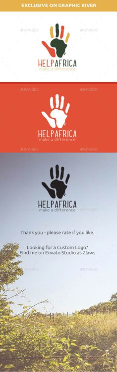 Help Africa Logo — Vector EPS #africa #app logo • Available here → https://graphicriver.net/item/help-africa-logo/13225039?ref=pxcr