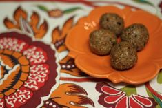 Snack called Amazeballs, from one of my favorite bloggers The Fitnessista. the perfect, portable, high-protein snack