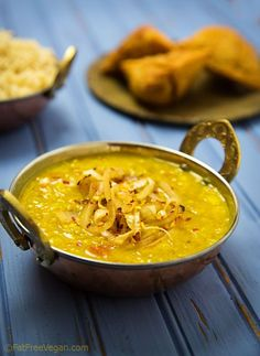 Easy Fat-Free Dal Tadka from Fat Free Vegan Veggie Recipes, Whole Food Recipes, Vegetarian Recipes, Cooking Recipes, Healthy Recipes, Vegan Soups, Dinner Recipes, Vegan Indian Recipes, Asian Recipes