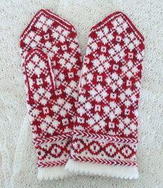 Knitted Mittens Pattern, Fair Isle Knitting Patterns, Knit Mittens, Knitted Gloves, Knitting Stitches, Baby Hats Knitting, Knitting Socks, Hand Knitting, Fingerless Mittens