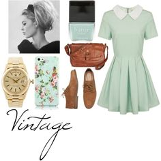 """Vintage"" by adindabalqis on Polyvore"