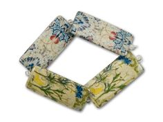 D�coupage Flower Mix Large Rectangle Bead Strand