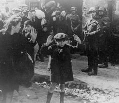 women and children being rounded up by the Nazis in Warsaw