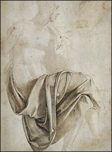 Michelangelo . . . perfect example of how a little shading on flat paper makes a line drawing come alive