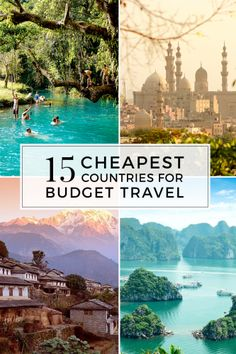 15 cheapest countries for budget travel