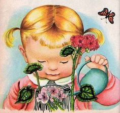 """Again from Eloise Wilkin. This illustration is from the book called """"We Help Daddy"""", 1962. I had this book myself!"""