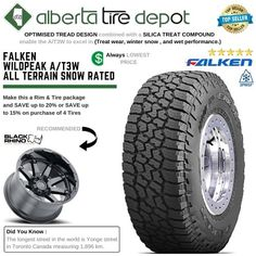 LT 235/85R16 E Falken WildPeak A/T AT3W - 10PR 3PMS Rubber Industry, Falken Tires, Service Map, Truck Tyres
