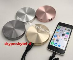 Charming metal circular power bank chargers 6000mAh promotional giveaways gifts items factory wholesale.whatsapp:86-15013887805