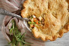 Chicken-Tarragon Pot Pie: NYTIMES COOKING (adapted from Jacques Pepin & Julia Child recipe)-great for leftover turkey or chicken Jacque Pepin, Food Processor Recipes, Main Dishes, Chicken Recipes, Cooking Recipes, Favorite Recipes, Pot Pies, Roast Chicken, Kitchens