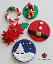 Image result for fondant xmas cupcake toppers
